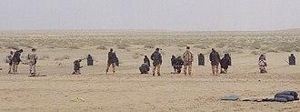 Pathfinder Platoon - UK Pathfinders conducting pistol training in Kuwait alongside US Special Forces