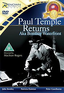 <i>Paul Temple Returns</i> 1952 film by Maclean Rogers
