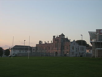 Plymouth College - Plymouth College main building at dusk
