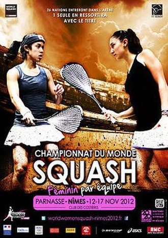 2012 Women's World Team Squash Championships - Poster of Women's World Squash Team 2012
