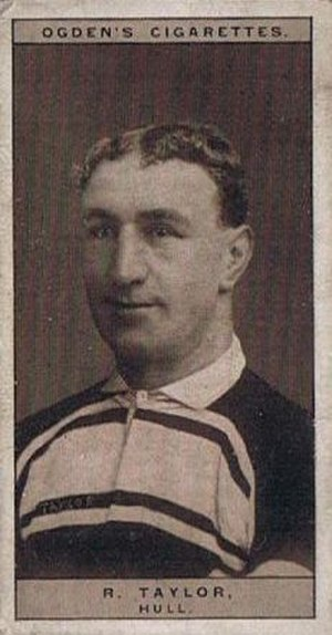 Bob Taylor (rugby league) - Ogden's Cigarette card featuring Bob Taylor