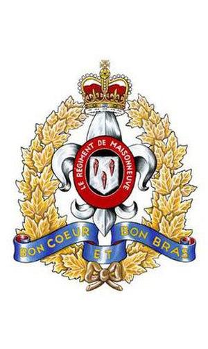 Le Régiment de Maisonneuve - Image: R de Mais Cap Badge