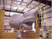 Ripley's shark being produced
