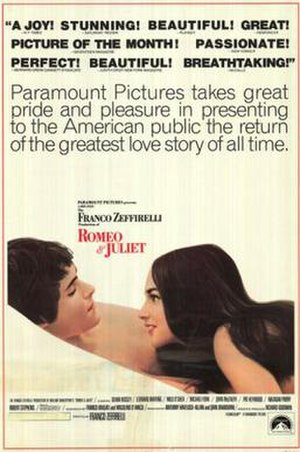 Romeo and Juliet (1968 film) - theatrical release poster