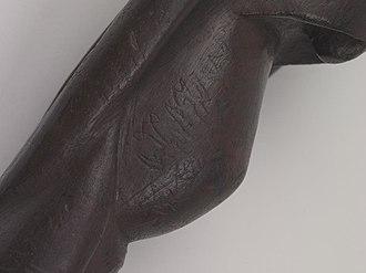 Rongorongo text X - Image: Rongorongo X Birdman (abdomen)