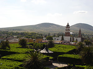 "Folktales of Mexico - A view of Tetilla Guanajuato, where the ""Burnt's girl street"" (La Quemada) is said to be located."