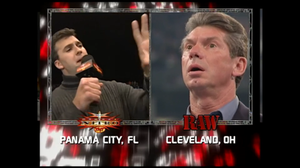 WCW Monday Nitro - Shane McMahon revealing he bought WCW on the simulcast.