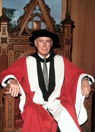 Ian Potter - Potter at the conferring of his honorary doctorate. 15 December 1973.