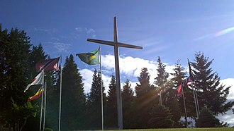 Skinner Butte - The Skinner Butte Cross at New Hope Christian College (formerly Eugene Bible College)