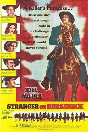 Stranger on Horseback - Theatrical release poster