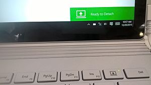 Surface Book - Surface Book allowing the user to detach the notebook