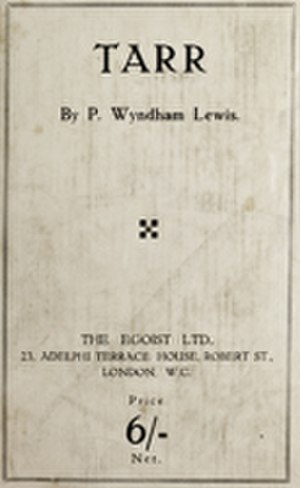 Tarr - 1918 first edition cover