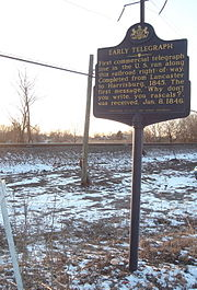 """Early Telegraph"" historical marker outside Elizabethtown, Pennsylvania"