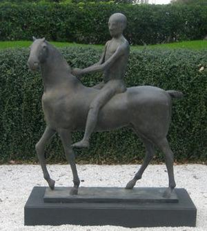 Marino Marini (sculptor) - The Pilgrim (Il pellegrino), bronze sculpture by Marino Marini, 1939, Museum of Fine Arts, Houston