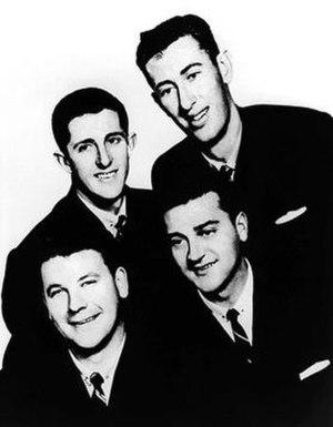 The Delltones - The original members of The Delltones. From left to right: Warren Lucas, Noel Widerberg, Ian 'Peewee' Wilson, Brian Perkins (1959)
