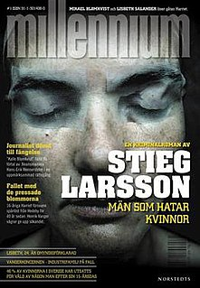 <i>Millennium</i> (novel series) Series of posthumously published crime novels by Stieg Larsson
