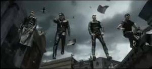 "Elevation (song) -  U2 (as ""Evil U2"") in the music video for ""Elevation""."