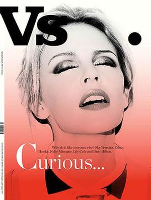 Vs. (magazine) - Kylie Minogue on the cover of Vs.