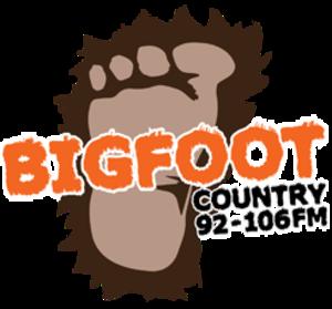 WDBF-FM - Image: WDBF WIBF Bigfoot Country logo