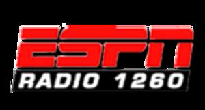 WSKO (AM) - Logo as ESPN Radio 1260, used from 2001 until 2010