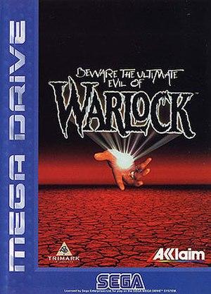 Warlock (video game) - Packaging for the European Mega Drive version