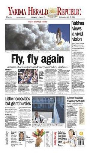 Yakima Herald-Republic - Image: Yakima Herald Republic front page