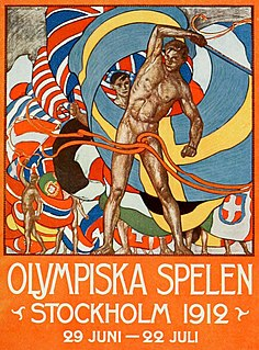 1912 Summer Olympics Games of the V Olympiad, celebrated in Stockholm (Sweden) in 1912