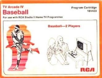 Baseball (1977 video game) - Image: 1977 Baseball Video Game Cover Art