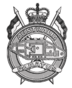 1st Armoured Regiment (Australia) - Cap badge of the 1st Armoured Regiment