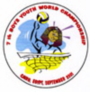 2001 FIVB Volleyball Boys' U19 World Championship - Image: 2001 FIVB Boys Youth World Championship logo