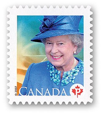 Queen Elizabeth II domestic rate stamp (Canada) - Image: 2008 pstamp EIIR