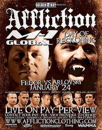 Affliction: Day of Reckoning - Image: Affliction Day of Reckoning
