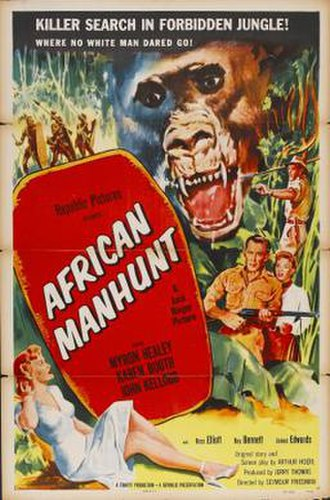 African Manhunt - Theatrical release poster