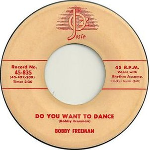 Do You Want to Dance - Image: Bobby Freeman Do You Want To Dance