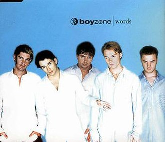Words (Bee Gees song) - Image: Boyzone words