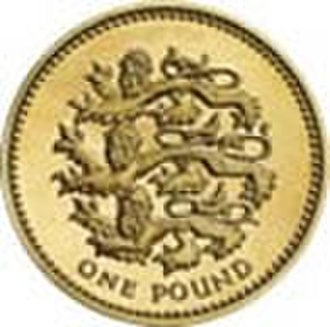 Royal Arms of England - Image: British one pound coin 1997 Lions Passant