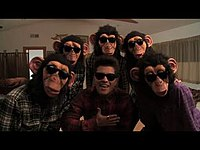 Mars and the poreotics in a shot from the official music video