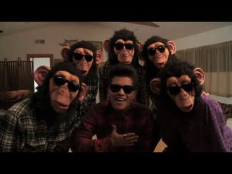 The Lazy Song - Mars and the Poreotics in a shot from the official music video.