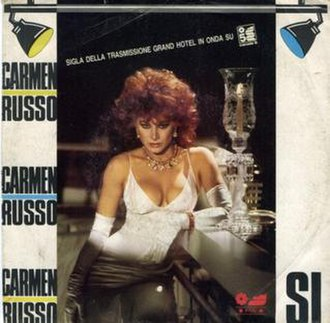 "Carmen Russo - Cover of Russo ""Sì"" single."
