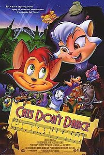 <i>Cats Dont Dance</i> 1997 US animated musical comedy film by Mark Dindal