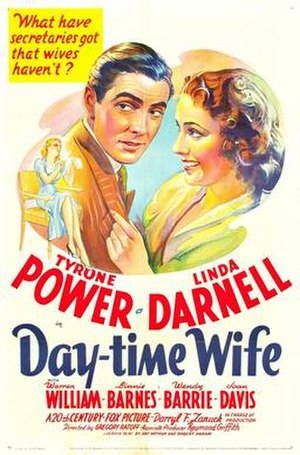 Day-Time Wife - Theatrical release poster