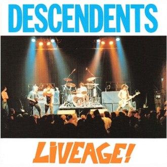 Liveage! - Image: Descendents Liveage! cover