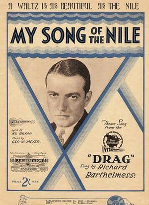 Drag (film) - Sheet music cover for the film's theme song