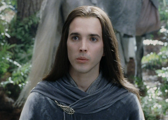 """Figwit - Bret McKenzie as """"Elf Escort"""" in The Lord of the Rings: The Return of the King."""