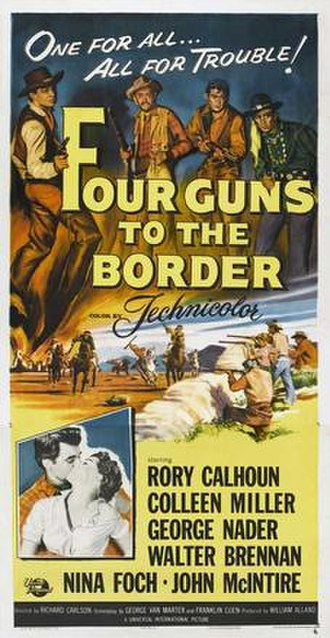 Four Guns to the Border - Film poster by Reynold Brown
