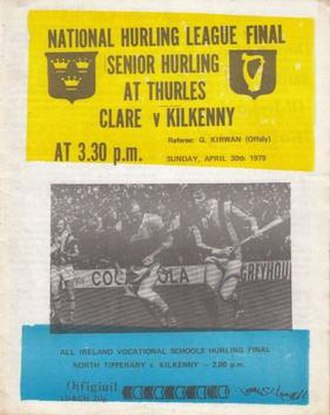 1977–78 National Hurling League - Image: GAA 1978 National Hurling League Final UNOFFICIAL PIRATE Clare