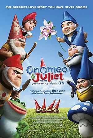 Gnomeo & Juliet - Theatrical release poster