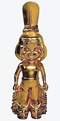 The golden Bravo Otto statuette, depicting a Native American boy