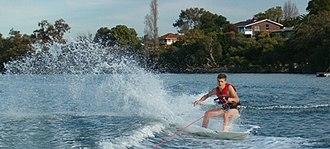 Skurfing (sport) - A person water skurfing