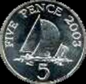 Guernsey pound - Image: Guernsey 5 pence